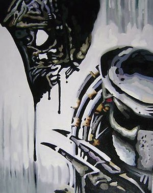 Reproduction oil paintings - Pop Art - Alien Vs Predator
