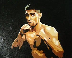 Reproduction oil paintings - Pop Art - Amir Khan Boxer