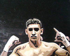 Reproduction oil paintings - Pop Art - Amir Khan Boxing