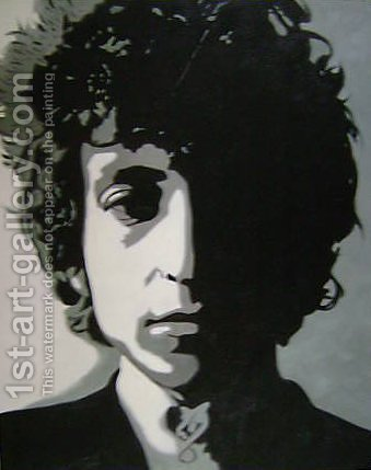 Bob Dylan Portrait by Pop Art - Reproduction Oil Painting