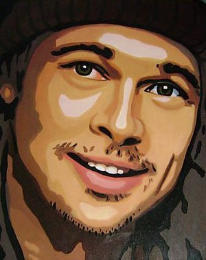 Reproduction oil paintings - Pop Art - Brad Pitt Portrait