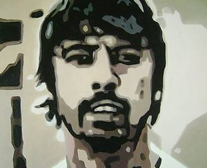 Reproduction oil paintings - Pop Art - Foo Fighters Dave Grohl2