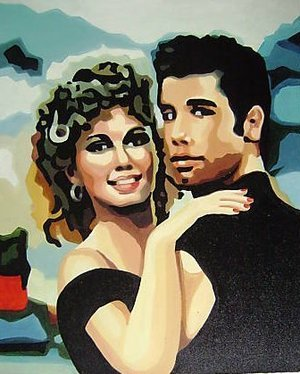 Reproduction oil paintings - Pop Art - Grease John Travolta