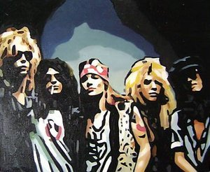 Reproduction oil paintings - Pop Art - Guns n Roses
