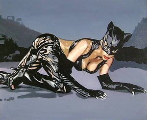 Reproduction oil paintings - Pop Art - Halle Berry Cat Woman
