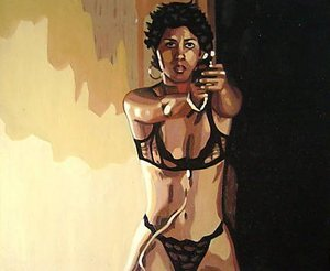 Reproduction oil paintings - Pop Art - Halle Berry Swordfish