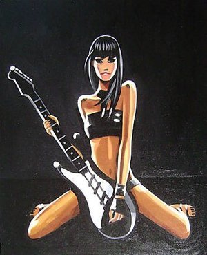 Reproduction oil paintings - Pop Art - Hed Kandi Guitar