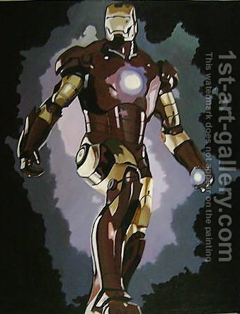 Iron Man Film by Pop Art - Reproduction Oil Painting