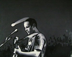 Reproduction oil paintings - Pop Art - Jack Johnson Performing