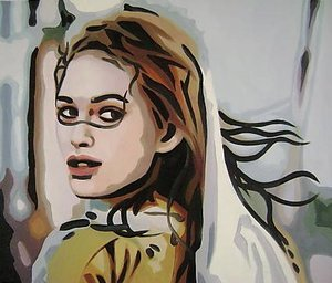 Reproduction oil paintings - Pop Art - Keira Knightley Stunning