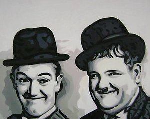 Reproduction oil paintings - Pop Art - Laurel and Hardy Comedy