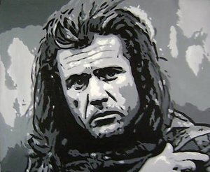 Reproduction oil paintings - Pop Art - Mel Gibson Braveheart