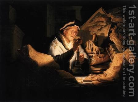 Rembrandt: The Money Changer - reproduction oil painting