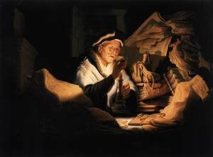 Reproduction oil paintings - Rembrandt - The Money Changer