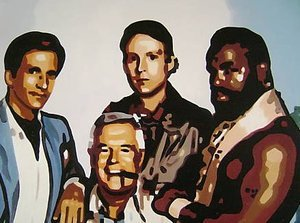 Reproduction oil paintings - Pop Art - The A Team Mr T
