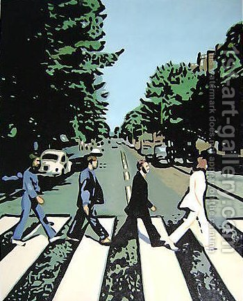 Pop Art: The Beatles Abbey Road - reproduction oil painting