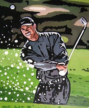 Reproduction oil paintings - Pop Art - Tiger Woods Golf