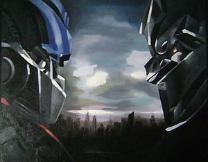 Reproduction oil paintings - Pop Art - Transformers 2