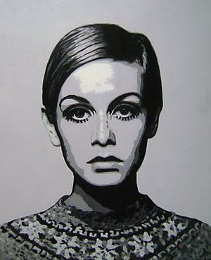 Reproduction oil paintings - Pop Art - Twiggy Icon Model
