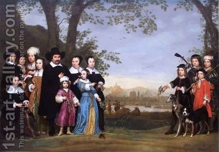 Portrait of a Family 2 by Aelbert Cuyp - Reproduction Oil Painting