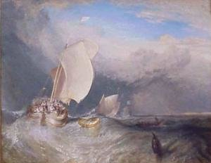 Reproduction oil paintings - Turner - Fishing Boats with Huckster Bargaining for Fish