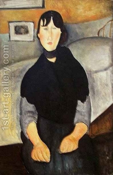 Young Woman of the People 2 by Amedeo Modigliani - Reproduction Oil Painting
