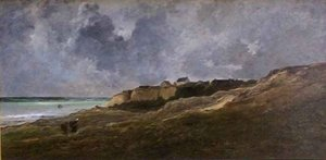 Reproduction oil paintings - Charles-Francois Daubigny - Cliffs at Villerville sur Mer