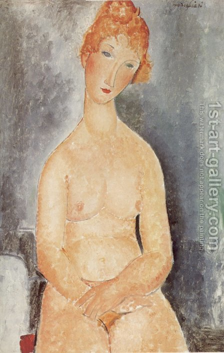 Seated Nude 2 by Amedeo Modigliani - Reproduction Oil Painting