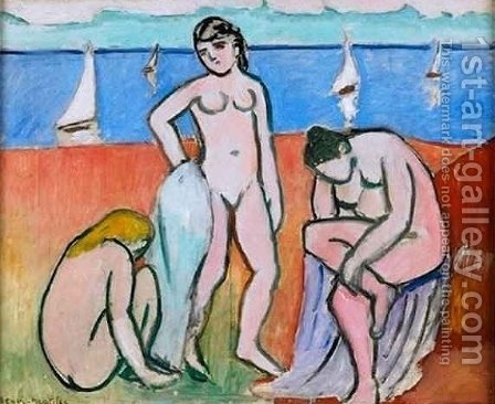 Three Bathers by Henri Matisse - Reproduction Oil Painting