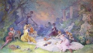 Modernism painting reproductions: The Picnic