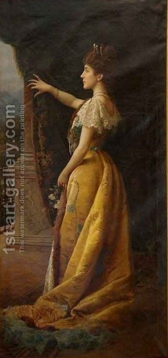Countess Caravadossi dAspremonte by Ignace Spiridon - Reproduction Oil Painting