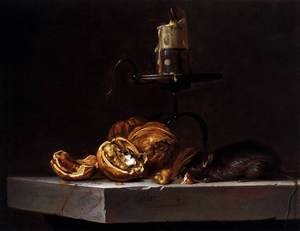 Reproduction oil paintings - Willem Van Aelst - Still-Life with Mouse and Candle