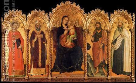 Madonna and Child with Saints by Andrea Bonaiuti da Da Firenze - Reproduction Oil Painting