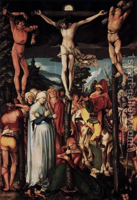 Crucifixion by Hans Baldung  Grien - Reproduction Oil Painting