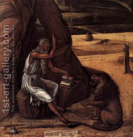 St Jerome in the Desert (detail) by Giovanni Bellini - Reproduction Oil Painting
