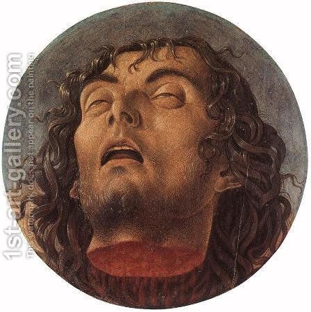 Head of the Baptist by Giovanni Bellini - Reproduction Oil Painting