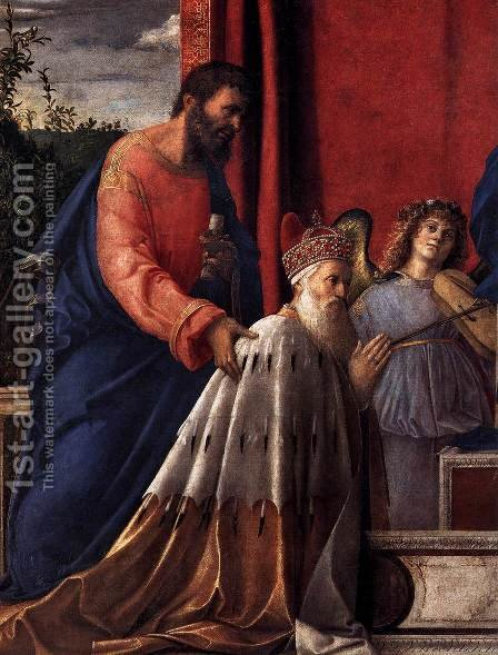 Barbarigo Altarpiece (detail) by Giovanni Bellini - Reproduction Oil Painting