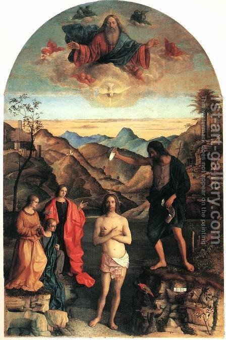 Baptism of Christ 2 by Giovanni Bellini - Reproduction Oil Painting
