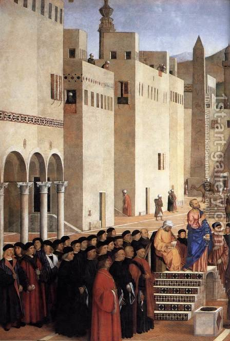 Sermon of St Mark in Alexandria (detail) by Giovanni Bellini - Reproduction Oil Painting