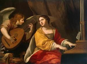 Reproduction oil paintings - Jacques Blanchard - St Cecilia