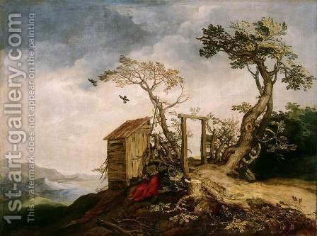 Landscape with the Prophet Elijah in the Desert by Abraham Bloemaert - Reproduction Oil Painting