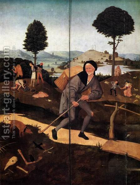 Triptych of Haywain (outer wings) 2 by Hieronymous Bosch - Reproduction Oil Painting