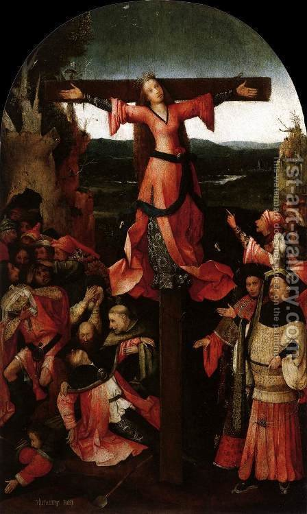 Triptych of the Martyrdom of St Liberata (central panel) 2 by Hieronymous Bosch - Reproduction Oil Painting