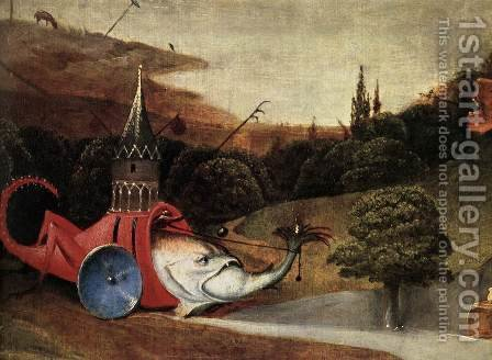 Triptych of Temptation of St Anthony (detail) 10 by Hieronymous Bosch - Reproduction Oil Painting