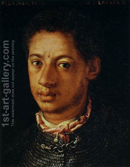 Alessandro de' Medici by Agnolo Bronzino - Reproduction Oil Painting