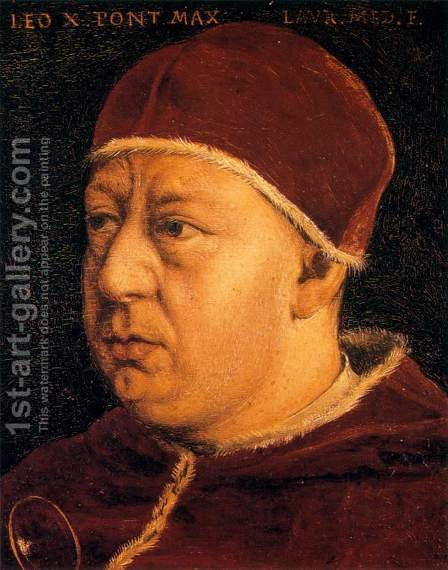 Pope Leo X by Agnolo Bronzino - Reproduction Oil Painting