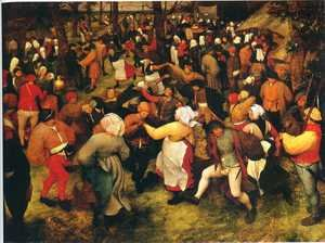 Famous paintings of Villages: Wedding Dance in the Open Air