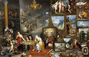 Famous paintings of Paintings of paintings: Allegory of Sight and Smell