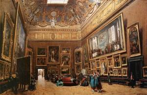 View of the Grand Salon Carre in the Louvre