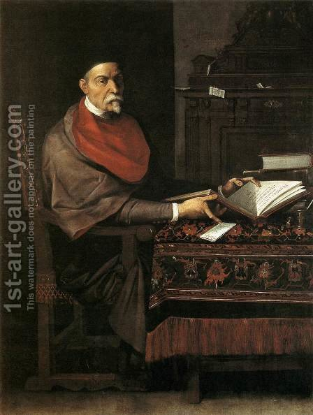 Portrait of Prospero Farinaccio by Giuseppe (d'Arpino) Cesari (Cavaliere) - Reproduction Oil Painting
